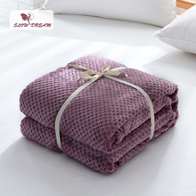 Slowdream Flannel Pineapple Blanket Aircraft Sofa Office Adult Use Car Travel Cover Throw For Couch Bed Sheet