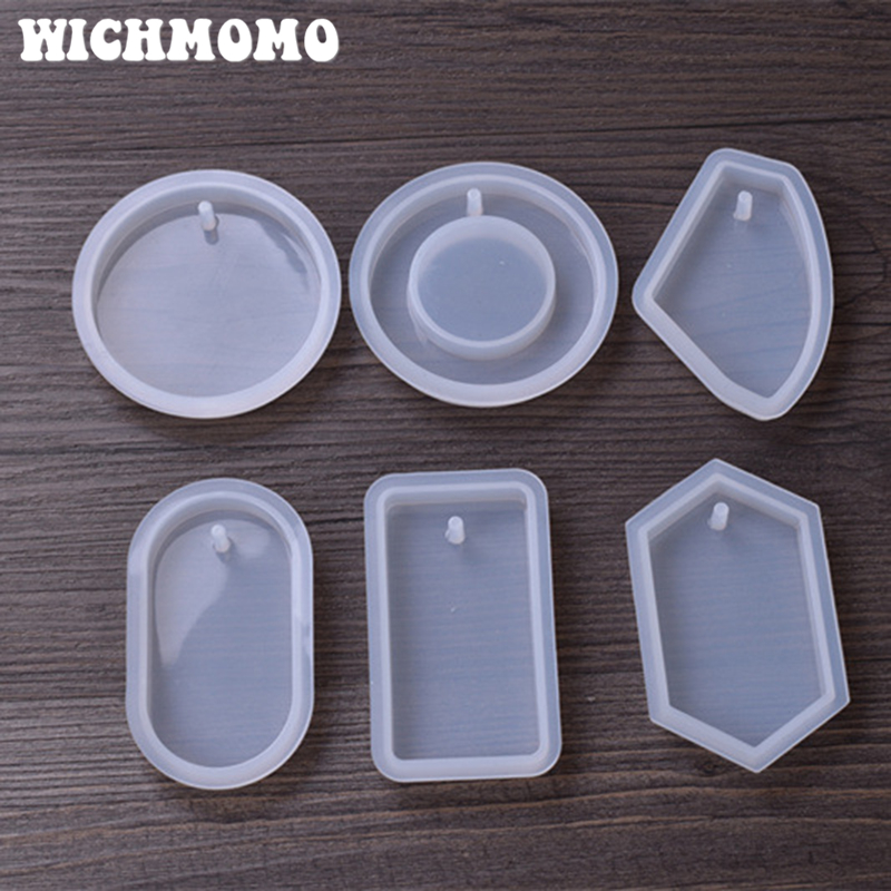 2019 New 1PCS Big Pendants Craft DIY Transparent UV Pyramid Resin Liquid Silicone Combination Molds For Making Necklace Jewelry