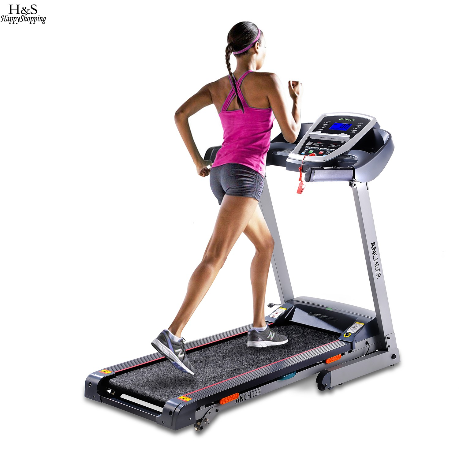 2017 New 3.0HP DC1.0-14 km/h Foldable Electric Treadmill Exercise Equipment Machine Home Gym Hot sale ancheer fitness folding electric treadmill exercise equipment motorized treadmill gym home walking jogging running machine