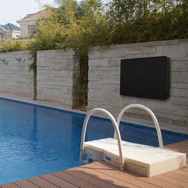 Outdoor TV Cover With Bottom Cover Quality Weatherproof Dust-proof Material Protect LCD LED Plasma Television Outdoor TV Cover