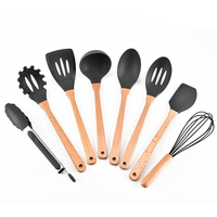 Useful Cooking Tool Sets Silicone Spatula Heat resistant Soup Spoon Non stick Special Cooking Shovel Kitchen Tools 2019 New