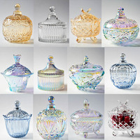 Electroplating process of glass crafts Home Furnishing decoration color European style fruit storage tank ornaments decoration