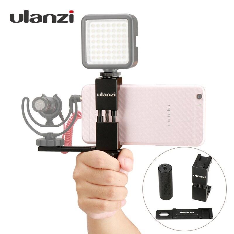Ulanzi смартфон режиссер Видео установки, металлические телефон Крепление для штатива с горячий башмак с рукояткой держатель микрофона пласт…