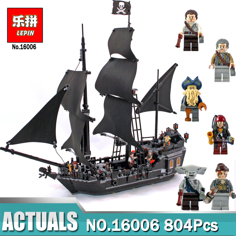 Lepin 16006 Pirates of the Caribbean The Black Pearl Building Blocks Toys compatible Legoinglys 4184 Pirates Ship For Children lepin 16006 804pcs building bricks blocks pirates of the caribbean the black pearl ship legoing 4184 toys for children gift