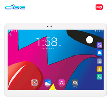 """CIGE Newest 10.1 inch Tablet PC MTK8752 Octa Core 4GB RAM 64GB ROM Android 7.0 3G 4G 1280*800 Screen Tablets 10.1"""" WiFi GPS"""
