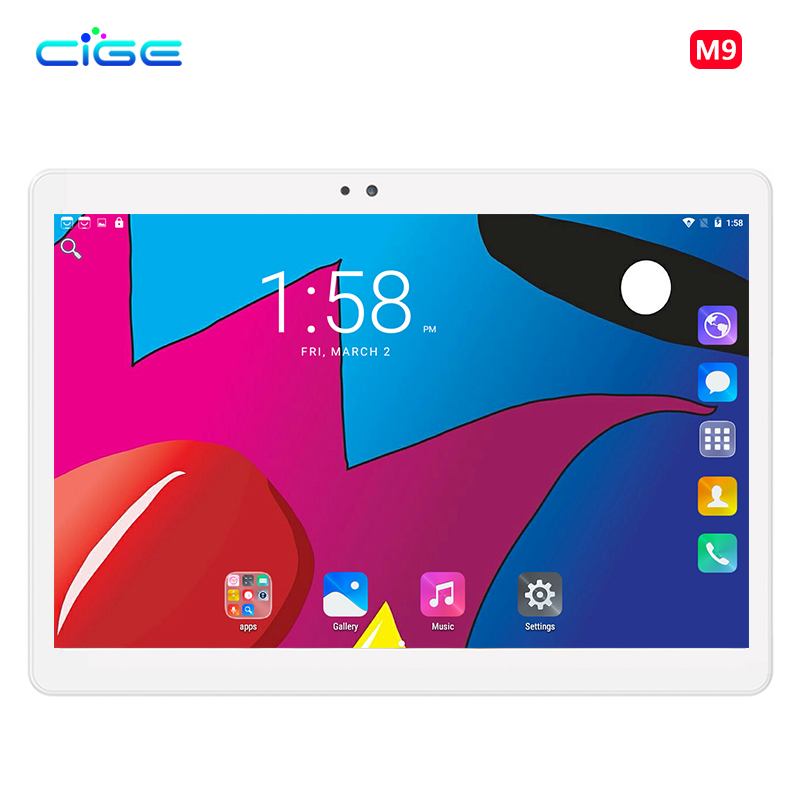 CIGE Newest 10.1 inch Tablet PC MTK8752 Octa Core 4GB RAM 64GB ROM Android 7.0 3G 4G 1280*800 Screen Tablets 10.1