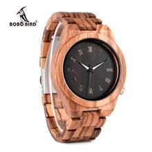 BOBO BIRD Mens Watches Luxury Brand Top Men Watch Relogio Masculino Wooden Wristwatches Timepieces W-M30