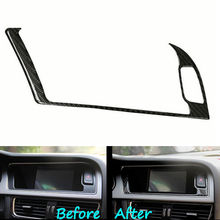BBQ@FUKA Car-Styling Carbon Fiber Console Warning Light Decal Cover Trim Sticker Car accessories Fit For Audi A4 B8 A5 13-2015
