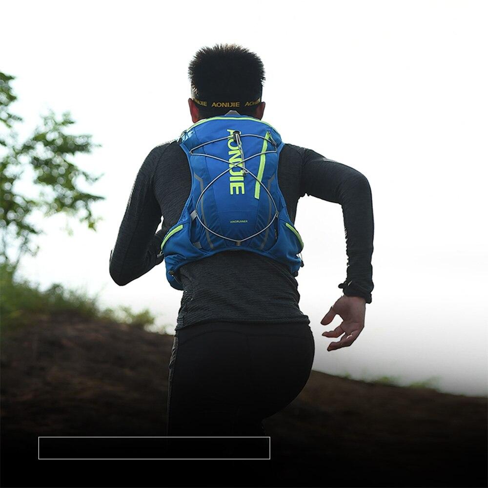 AONIJIE E904S 10L Paquete de hidratación mochila chaleco arnés agua de la vejiga senderismo Camping corriendo maratón carrera deportes - 6