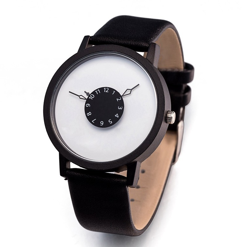 Men Women Quartz watch Lovers\' Watch Leather Wristwatches Clock Fashion Watches