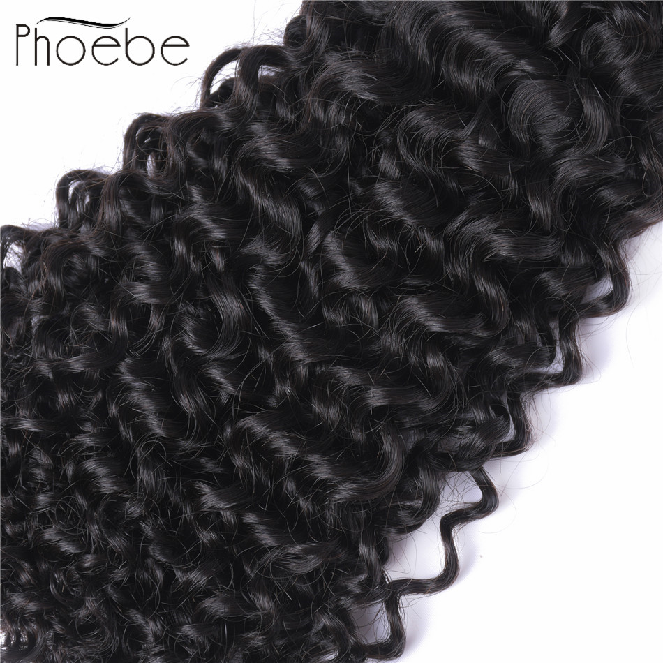 Hair Weaves Jarin Kinky Curly Hair 1 Piece 100g Natural Color 8-26 Inch Peruvian Hair Weave Bundles Deal Remy Real Human Hair Extensions Human Hair Weaves