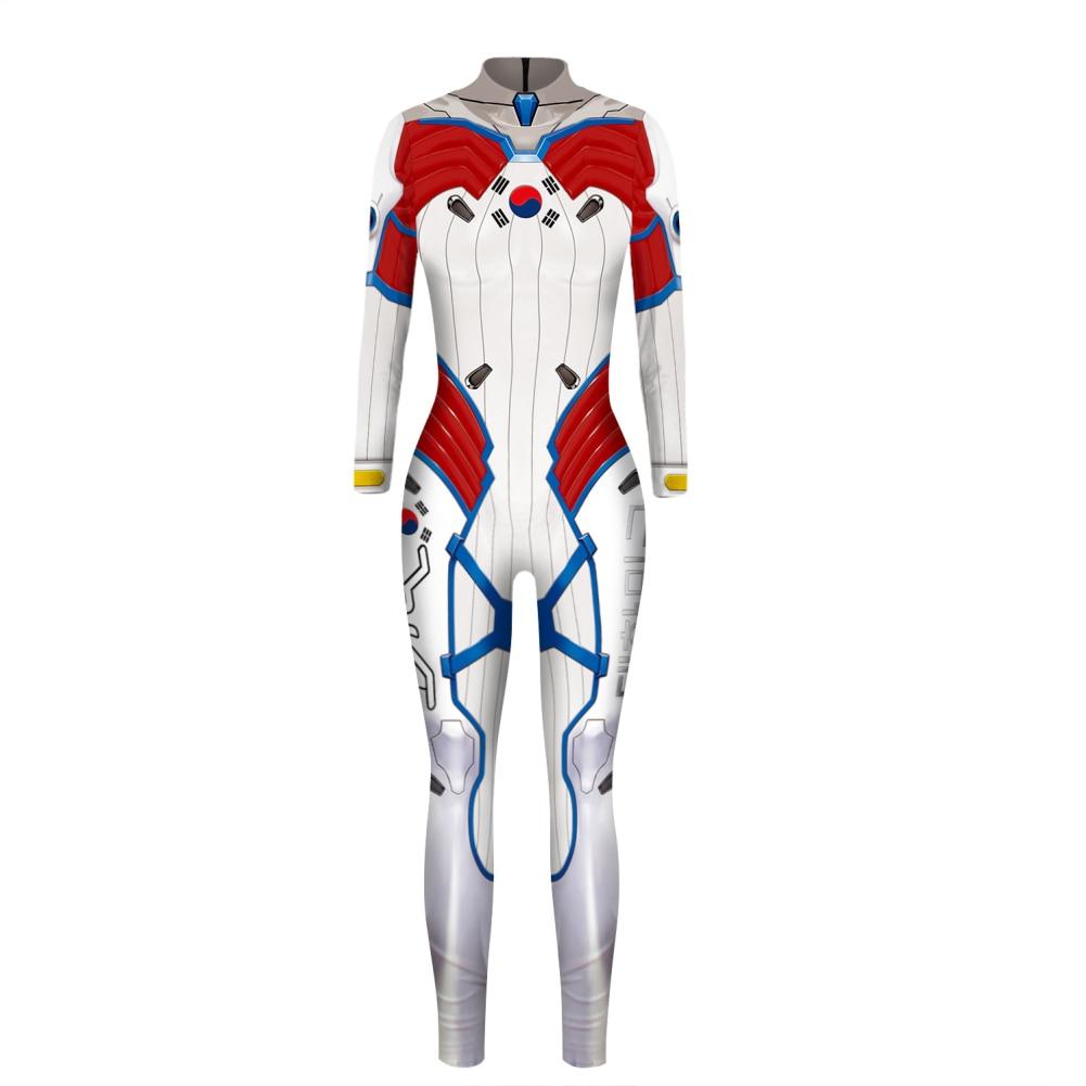 Halloween Costumes for Women Plus Size Overwatchs Cosplay D Va Dva D.va Zentai Spandex Bodysuit Halloween Costume Adult Woman 3