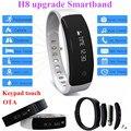 H8 h8 actualización inteligente pulsera bluetooth 4.0 podómetro más ipx5 impermeable pulsera smartband android ios pk xiaomi mi banda 2