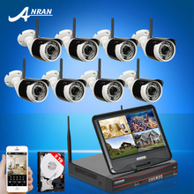 """New! Plug And Play 8CH 10""""LCD Screen Wireless NVR Security System&720P Fulled-HD WIFI IP Camera Home IR Surveilance Kit 2TB HDD"""