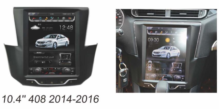 Otojeta Vertical 10.4 Quad Core Android 6.0 2gb ram Car DVD player For peugeot 408 gps navi radio Multimedia stereo headunit 2gb ram 7 quad core android 7 1 multimedia 4g dab swc bt car dvd player audio stereo radio gps navi for vw touareg 2002 2011