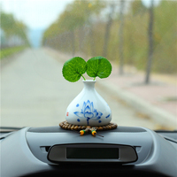 Car Perfume Ornament Unique Vase Ceramics Fragrance Air Freshener Auto Dashboard Decoration Accessory Diffuser Essential Oil