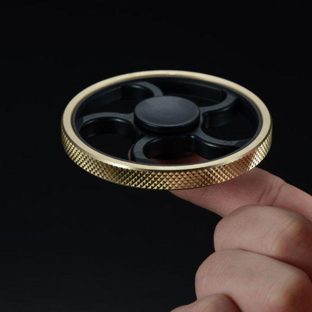 Gyro Decompression Fidget Spinner Copper Round Toy