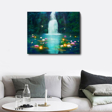 Laeacco Wall Art Chinese Landscape Painting Posters and Prints Living Room Nordic in Canvas Bedroom Home Decor