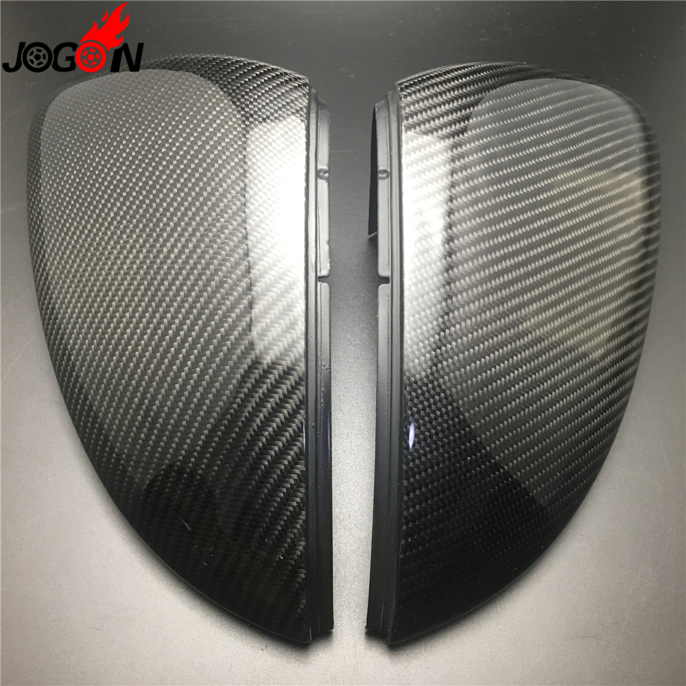 цена на Carbon Fiber For VW Golf 7 MK7 R GTI VII 2013 2014 2015 2016 2017 Car Side Rear View Rearview Back Mirror Cover Replacement