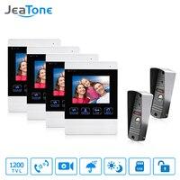 JeaTone Video Door Phone Intercom 1200TVLP Door Bell Camera IR LED 4 Inch LCD Indoor Monitor