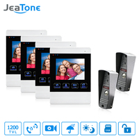 JeaTone Video Door Phone Intercom 1200TVLP Door Bell Camera IR LED 4 Inch LCD Indoor Monitor