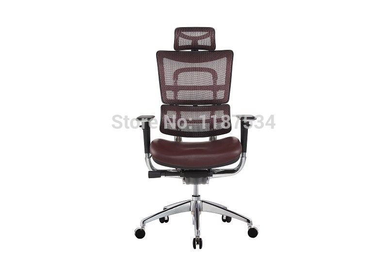 JNS801YK Mesh and leather office chair executive swivel chair with headrest office chair 240337 ergonomic chair quality pu wheel household office chair computer chair 3d thick cushion high breathable mesh