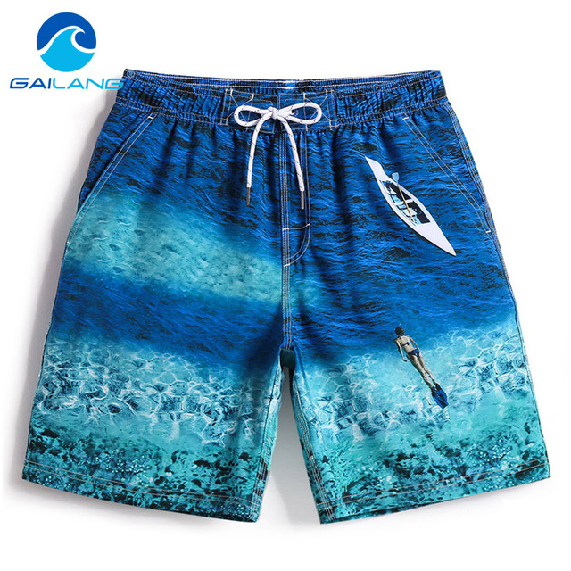 Gailang Brand Mens Swimwear board shorts Quick Drying Man Boxer Trunks Baordshorts Swimsuits Men Sweatpants Casual Shorts