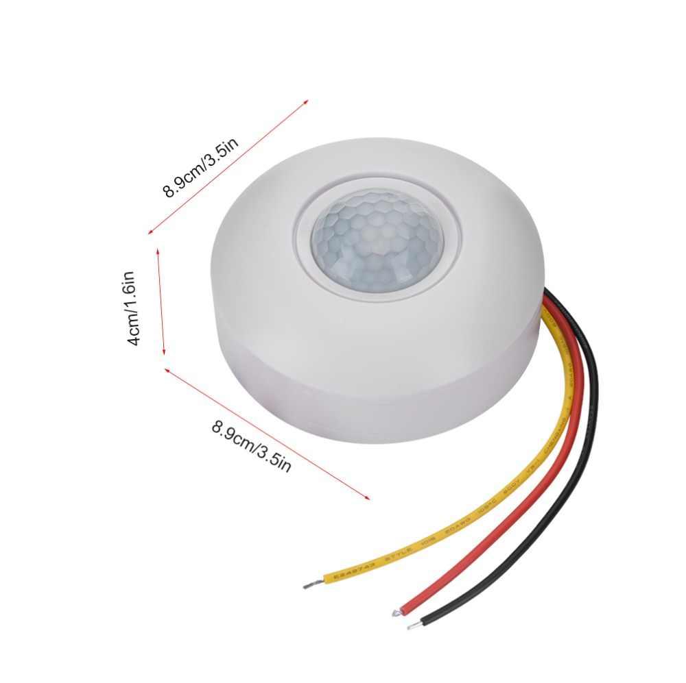 Высокая чувствительность 12 в 110-220 В потолочный светильник с инфракрасным датчиком движения и инфракрасным датчиком движения, 360 градусов, время задержки, бесплатная доставка
