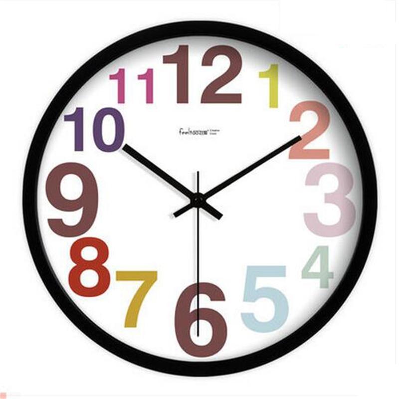 Vintage numérique horloge murale Design moderne Wandklok Klok Klokken horloge femmes décor à la maison grande horloge murale muet montre 2019 70N442