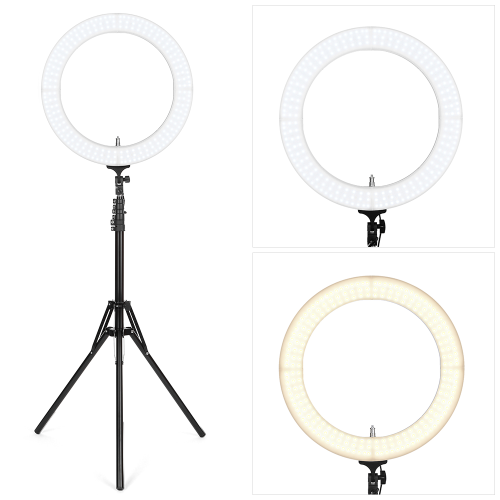 FX 18 Inch Outer Dimmable LED Ring Light For Camera Smartphone Ultra Thin Lightweight Professional Lighting For Removes Shadow