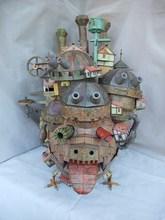 50cm Howl's Moving Castle 3D Paper Model Tall Land Version Model Educational 3D Puzzle DIY Toys birthday Gift for Children
