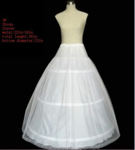 In Stock 3 Hoops Prrticoats For Wedding Dress Anagua De Vestido De Noiva Wedding Accessries Bridal Gown Undersklirt