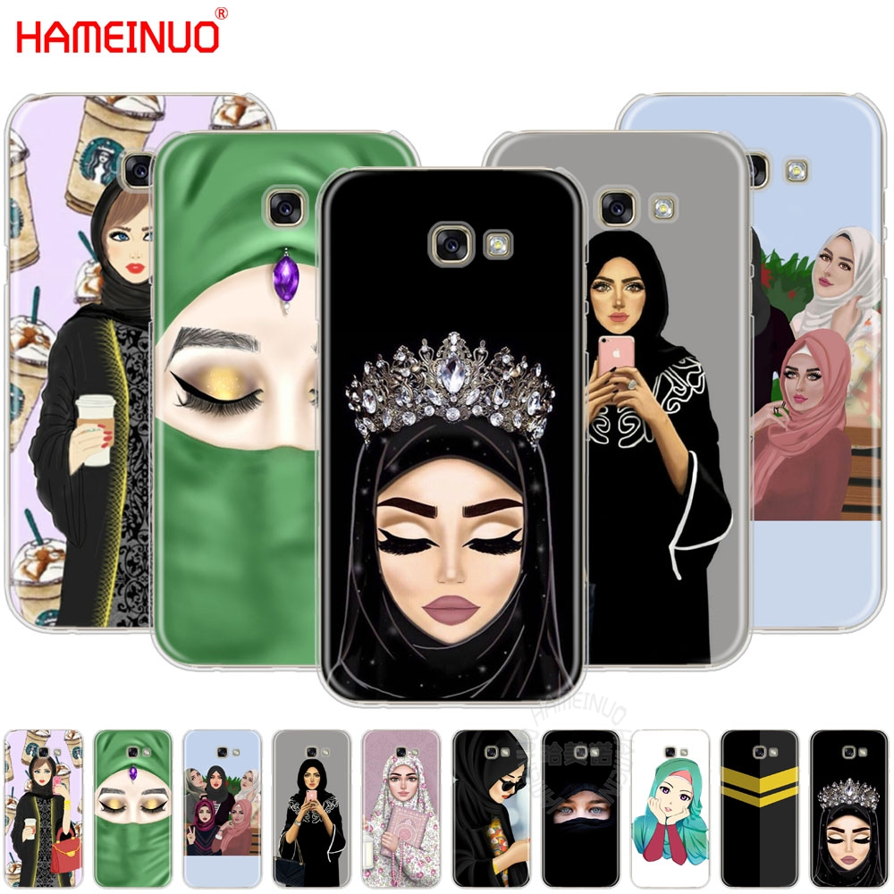 hijab Beautiful Muslim Girls women cell phone case cover for Samsung Galaxy A3 A310 A5 A510 A7 A8 A9 2016 2017 2018