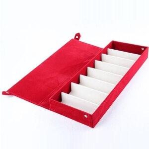 Image 2 - Moedoa estojo para óculos de sol, caixa de armazenamento para óculos de sol, 8 compartimentos, joias, 48.5x18*6cm caixa de exibição/rack