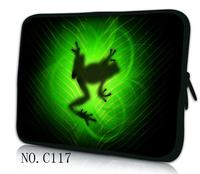 Hot Green Frog Laptop Bag Case Sleeve For 9 7 10 1 11 6 12 13