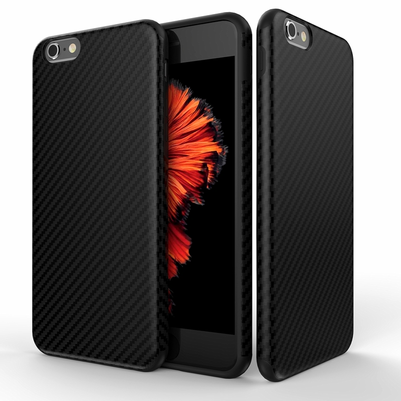 Newest Environmental Carbon Fiber Case For iPhone 6 6S Plus Soft Anti-Skid Anti-Knock Cover For iPhone 7 / Plus Leather Skin Bag