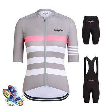 Rapha Camisa de Ciclismo Set 2019 das Mulheres de Verão Mtb Mountain Bike Ciclismo Roupas Ropa ciclismo Mujer Respirável Downhill Jersey