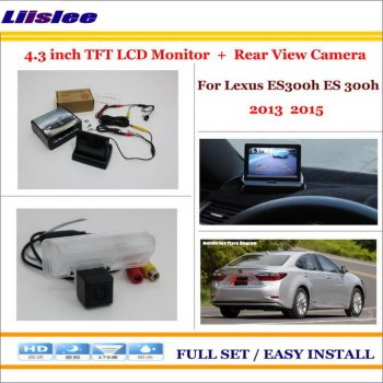 "Car 4.3"" Color LCD Monitor Screen For Lexus ES300h ES 300h 2013 2015 Auto Back UP Reverse Camera 2 in 1 Rearview Parking System"