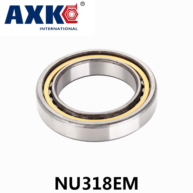 Axk Bearing Nu318em Cylindrical Roller Bearing 90*190*43mm цена