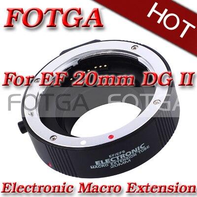Venta al por mayor AF enfoque automático tubo de extensión automática 20mm DG II para Canon EF EF-S lente