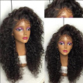 180% Thick Curly Hair Wig For Black Women Cheap Curly Full Lace Wig High Quality Brazilian Hair Curly Glueless Lace Front Wigs