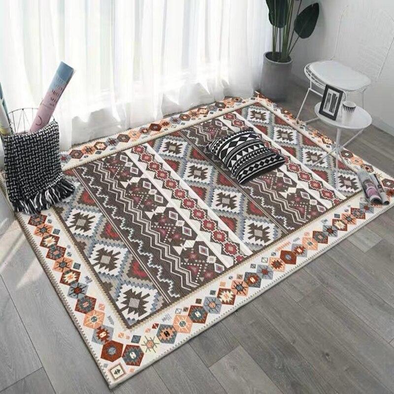 アメリカのレトロなリビングルームモロッコホーム寝室のカーペット大ソファコーヒーテーブルの敷物ボヘミア研究ルームのフロアマット|カーペット|ホーム&ガーデン -