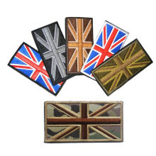 Drapeau broderie Badge drapeau britannique Patch militaire tactique Union Jack tissu autocollant Denim veste Logo décoratif brassard(China)