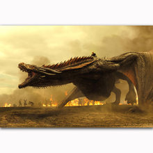 FX2085 Game Of Thrones Daenerys Targaryen Mother Of DRAGONS Vintage Poster Art Silk Light Canvas Home Room Wall Printing Decor(China)