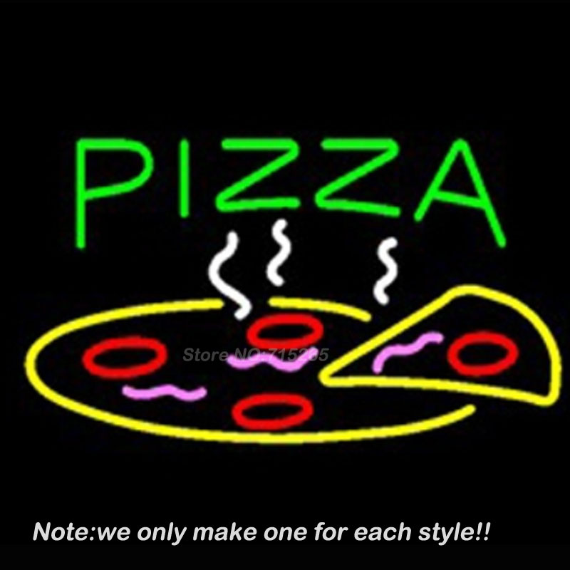 Pizza Restaurant Neon Sign Recreation Room Windows Handcraft Neon Bulbs Glass Tube Store Display Gift Commercial Custom 17x14