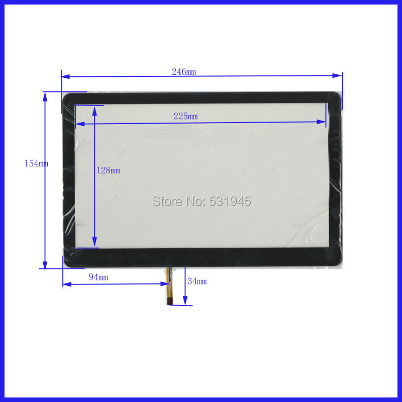 ФОТО 246mm*154mm XWT168 246*154    10.1 -inch resistive touch screen display on the outside flat screen handwriting for table