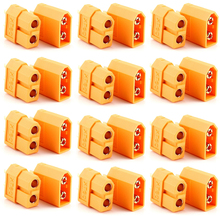 цена на 50 pairs XT60 bullet Connectors battery dean connector Gold-plated plug Male Female RC lipo hobby + Register free shipping