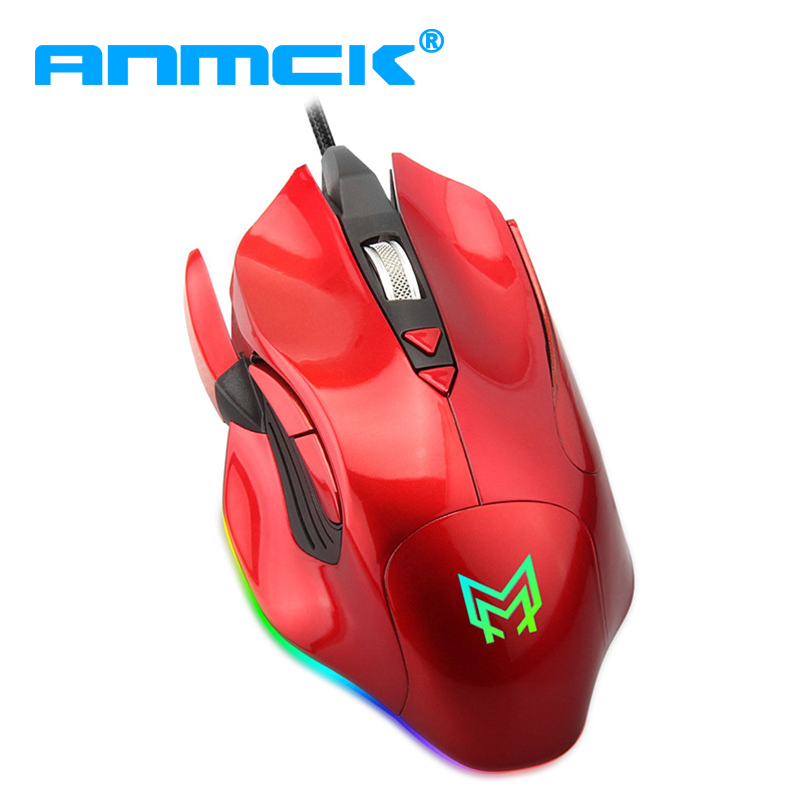 Professional gamer Gaming Mouse 7D 4800DPI Adjustable Wired Optical LED Backlit Computer Mice USB Cable Mouse for laptop PC цена