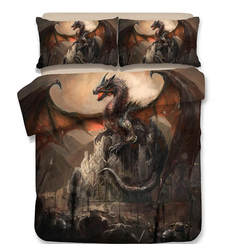 3D dinosaur bedding set dragon Twin Full Queen King comforter bedding sets bedclothes bed linen Jurassic 10 Size single Double