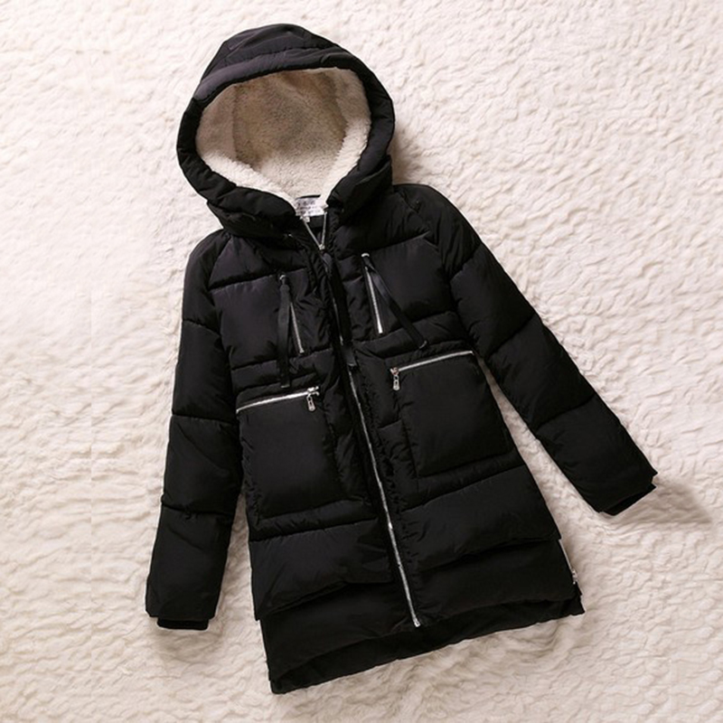 New 2018 Winter Jacket Women   Parka   Wadded Female Outerwear Plus Size M-5XL Thickening Wadded Coat Casual Down CC193